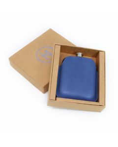 Italian Leather Sleeve & Black Hip Flask