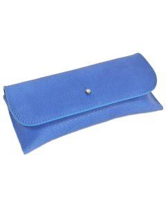 Italian Leather Glasses Case (Cobalt Blue)