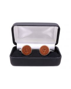 Hand-Embossed Leather Cufflinks
