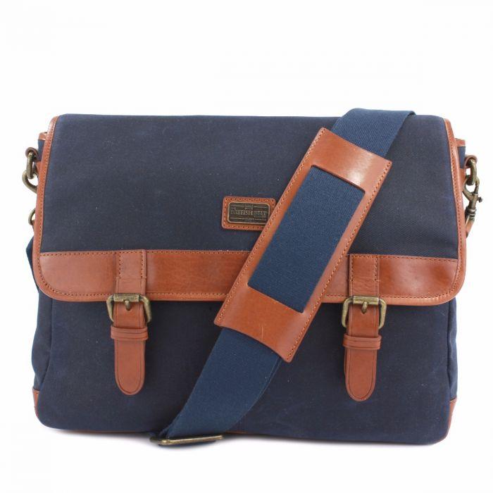 e8770ef80a Men s Blue Leather Messenger