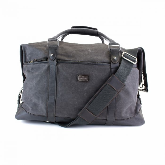 Men s Black English Leather Overnight Bag  9f39dfe03685d