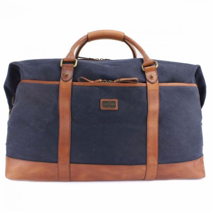 Men s Blue English Leather Overnight Bag  e5c490bd71a54