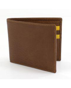 Kingston Bi Fold Wallet-Saddle Tan/Yellow