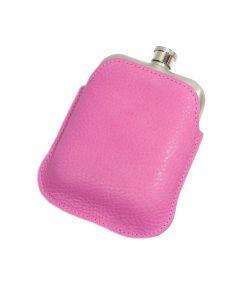 Italian Leather Hip Flask Sleeve