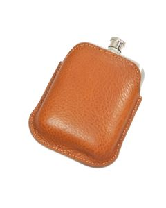Italian Leather Hip Flask Sleeve