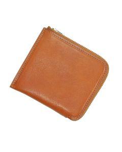 Italian Leather Zip Round Wallet
