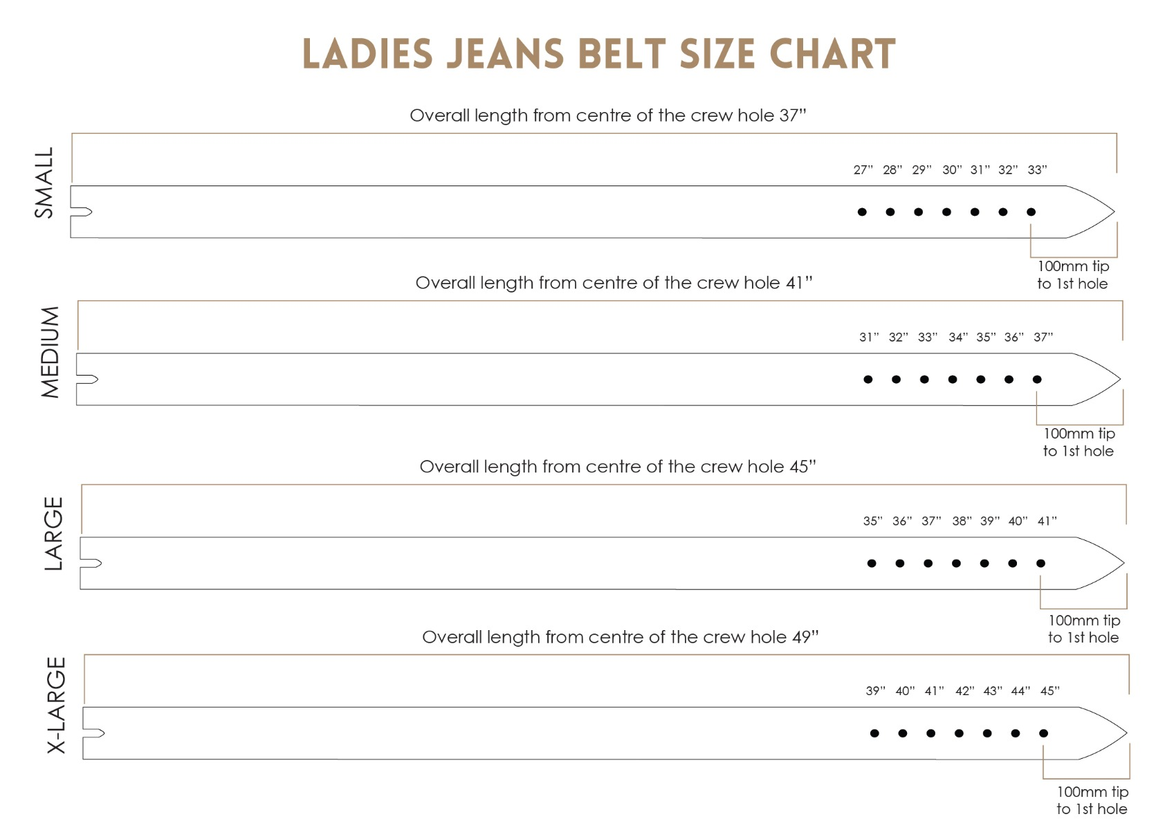 Ladies Jean Size Chart