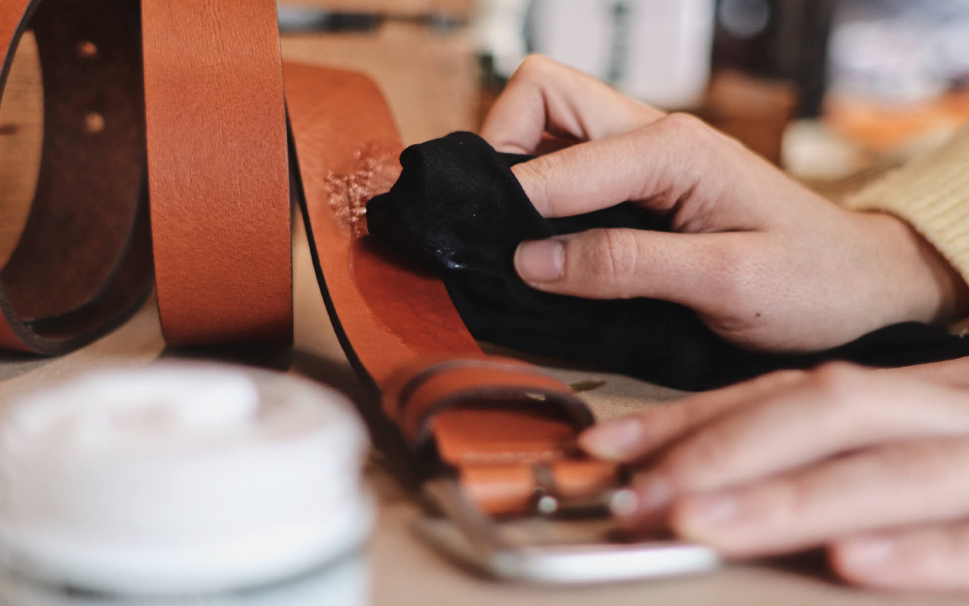 how to care for your full grain leather belt by the british belt company